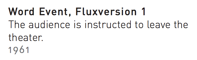 word event fluxusversion 1